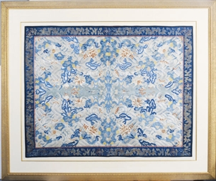 A FRAMED CHINESE EMBROIDERY TE