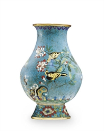 A CHINESE CLOISONNE ENAMELED P