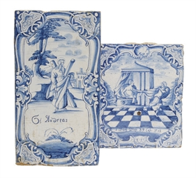 TWO BLUE AND WHITE DUTCH DELFT