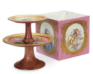 A SEVRES STYLE PORCELAIN PINK