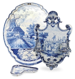 A GROUP OF DUTCH DELFT BLUE AN