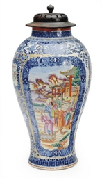 A CHINESE EXPORT PORCELAIN MAN