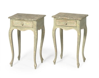A PAIR OF FRENCH PAINTED FAUX-
