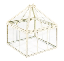 A CREAM-PAINTED TERRARIUM,