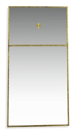 A GILT-METAL MIRROR,