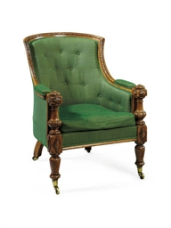 AN EARLY VICTORIAN OAK BERGERE