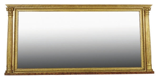 A REGENCY GILTWOOD OVERMANTLE