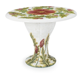 A MAJOLICA 'FLORAL-AND-LEAF' P