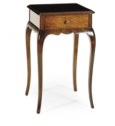 A MAHOGANY SIDE TABLE,