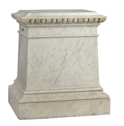 A LARGE MARBLE PLINTH