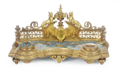 A FRENCH GILT-BRONZE AND CHAMP
