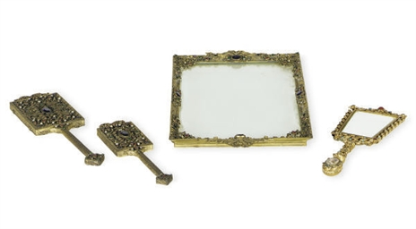 A GROUP OF GILT-METAL, ENAMELE