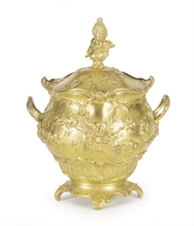 A CONTINENTAL GILT-METAL TUREE