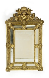 A GILTWOOD AND COMPOSITION WAL