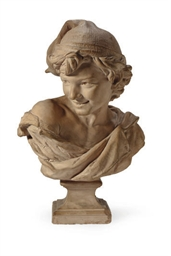 A FRENCH TERRACOTTA BUST ENTIT