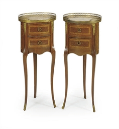 A PAIR OF FRENCH KINGWOOD AND