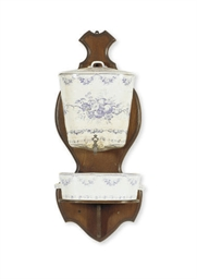 A GLAZED EARTHENWARE LAVABO,