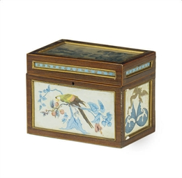 AN ENGLISH ROSEWOOD TEA CADDY*