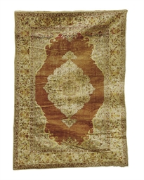 A SILK TURKISH RUG,