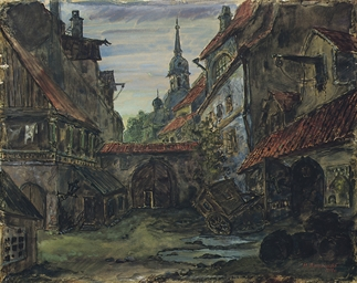 The blacksmith's courtyard