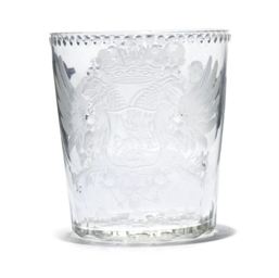 AN ENGRAVED AND POLISHED GLASS