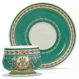 A CUP AND SAUCER FROM THE IMPE