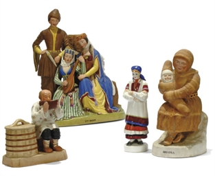 THREE PORCELAIN REGIONAL FIGUR