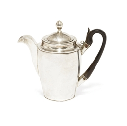 A RUSSIAN SILVER HOT MILK JUG