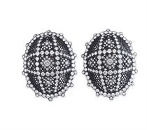 "A PAIR OF DIAMOND ""BLACK LACE"" EAR CLIPS, BY CARNET"