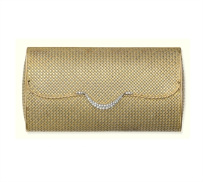 A DIAMOND-SET EVENING BAG, BY