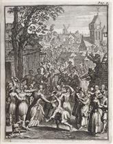 AMSTERDAM 1708 -- ROTGANS, Lucas (1645-1710)  Boerekermis Am