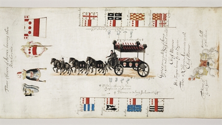 LONDON 1646 -- Funeral Cortège