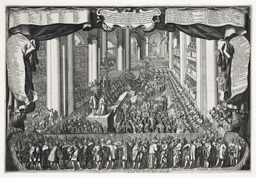 ROME 1687 -- [PRINTS]. Two abj