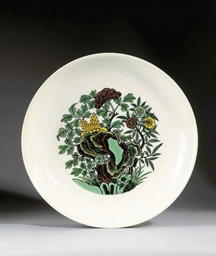 GRAND PLAT EN PORCELAINE A DEC