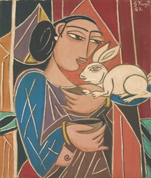 Untitled (Woman with Rabbit)