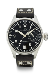 IWC.  A LARGE STAINLESS STEEL