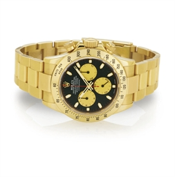 ROLEX. AN 18K GOLD AUTOMATIC C