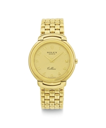 ROLEX.  AN 18K GOLD QUARTZ WRI