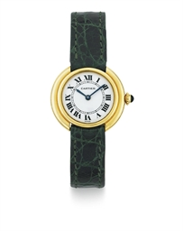 CARTIER.  A LADY'S 18K GOLD WR