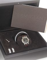 PARMIGIANI.  A FINE 18K WHITE GOLD AUTOMATIC RETROGRADE PERPETUAL CALENDAR WRISTWATCH WITH MOON PHASE