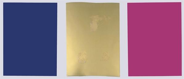 Monochrome und Feuer (triptych