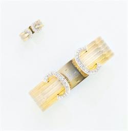 A diamond set three colour ban