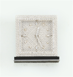 A diamond set travel clock, by