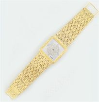 A diamond set wristwatch, by Bueche-Girod