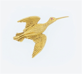 A bird brooch, by Hermes