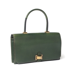 A FOREST GREEN LEATHER 'BRIO'