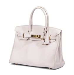 A PALE PINK LEATHER 'BIRKIN' B