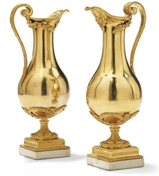 A PAIR OF LOUIS XVIII ORMOLU E