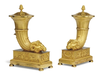 A PAIR OF LOUIS XVIII ORMOLU R