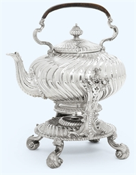 A WILLIAM IV SILVER KETTLE, ST
